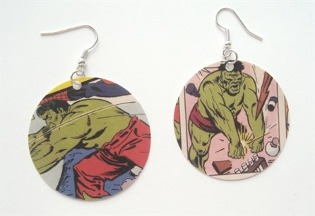 Comic Book Earrings