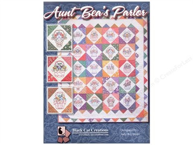 Aunt Bea's Parlor Hand Embroidery Quilt Pattern - Texas Quilt Shop