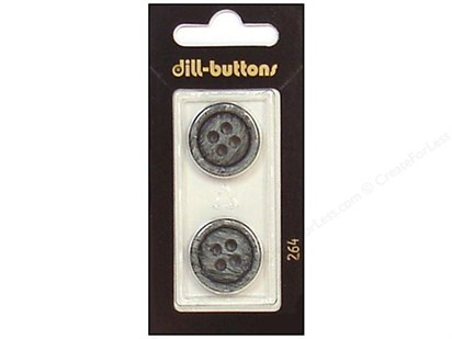 Dill Gray 4 Hole Button