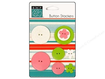 Bazzill Buttons Stackers Pinwheel