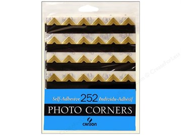 Canson Self-Adhesive Photo Corners Gold