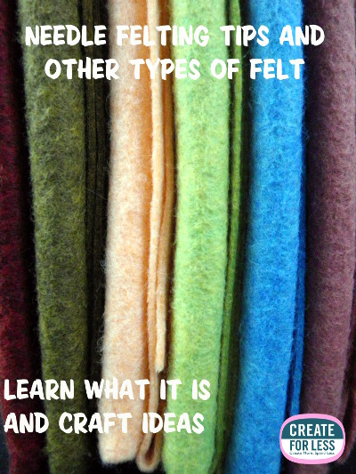 Types Of Felt and Needle Felting Tips | CreateForLess.com Discount Craft Supplies