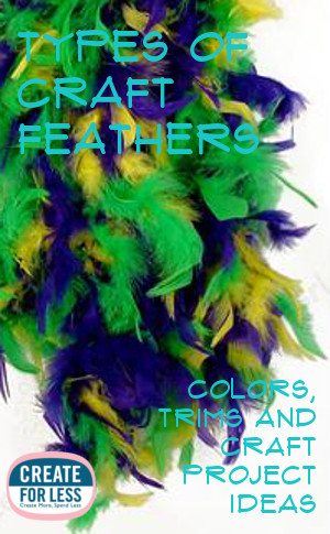 Types Of Craft Feathers from Boas to Peacock Feathers and everything in between