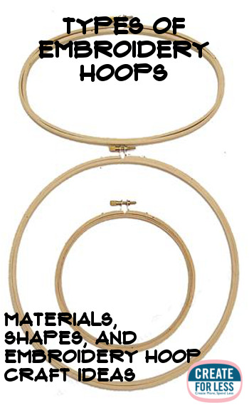 Embroidery Hoops Types and Materials | CreateForLess.com Discount Craft Supplies