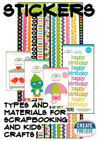 Types Of Stickers and Crafting Ideas | CreateForLess.com Discount Craft Supplies