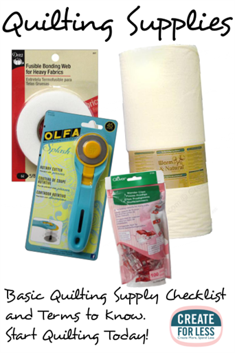 Types of Quilting and the Supplies you need to get Started | CreateForLess.com Discount Craft Supplies