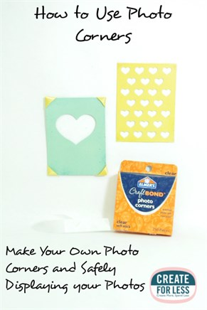 How to Use Photo Corners and Making Your Own | CreateForLess.com Discount Craft Supplies