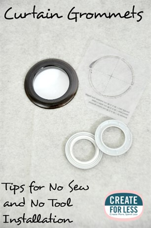Curtain Grommets - No Sew and No Tool Curtain Making. | CreateForLess.com Discount Craft Supplies