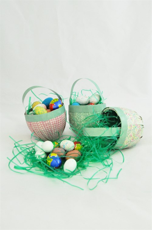 Paper Mache Easter Egg Baskets