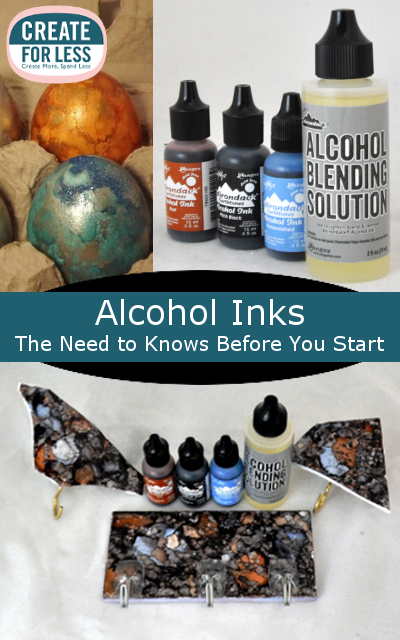 Tips for using alcohol inks and supplies needed for Craft supplies online cheap