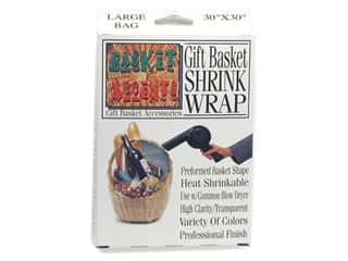 shrink: Basket Accents Shrink Wrap Bag Large