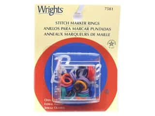 acrylic knitting needle: Boye Stitch Marker Rings Open Coil 20 pc.