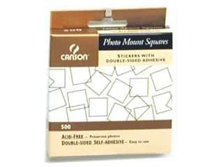 2013 Crafties - Best Adhesive: Canson Self-Adhesive Photo Mount Squares 500 pc. Clear