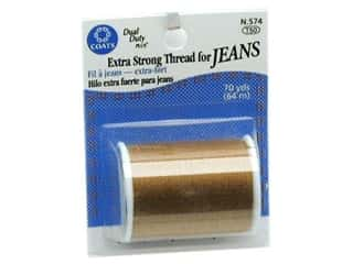 Threads Cotton Covered Polyester Thread: Coats & Clark Dual Duty Plus Jean Thread Card 70yd Gold