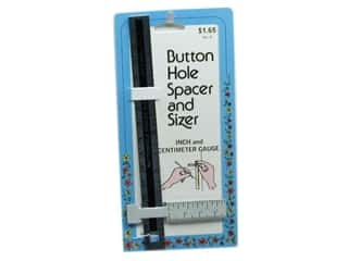 Collins Sewing Gauge Buttonhole Spacer & Sizer 6""