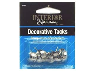 Dritz Home Dec Nails 7/16&quot; Nickel 24pc