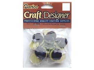 "Floral & Garden Basic Components: Darice Chenille Bees 1"" Yellow/Black 5 pc"
