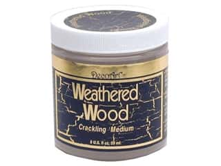 DecoArt Crackle Finish: DecoArt Medium Weathered Wood Crackling 8oz