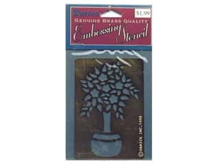 Darice Stencils Embossing Brass Tree withFlowers