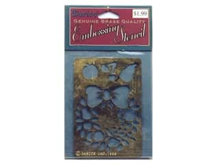 Darice Stencils Embossing Brass Wreath/Fruit