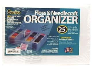 Measuring Tapes/Gauges Yarn Accessories: Darice Organizer 7 Hole Floss & Needlecraft with 25 Cardboard Bobbins