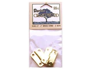 "Darice Hardware Craftwood Hinge 1"" Brass 2 sets"