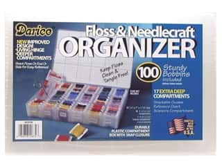 Measuring Tapes/Gauges Yarn Organizers: Darice Organizer 17 Hole Floss & Needlecraft with 100 Cardboard Bobbins