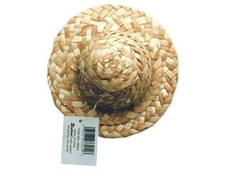 Dolls and Doll Making Supplies: Darice Straw Hat Round Crown 5""