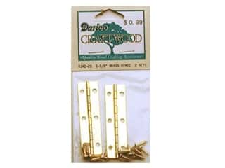 "Darice Hardware Hinge 1 5/8"" Brass 2 sets"