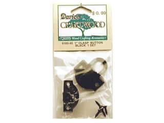 Darice Hardware Clasp Button 1&quot; Black