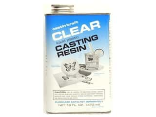 Resin, Ceramics, Plaster Finishes: Castin'Craft Casting Resin without Catalyst 16 oz