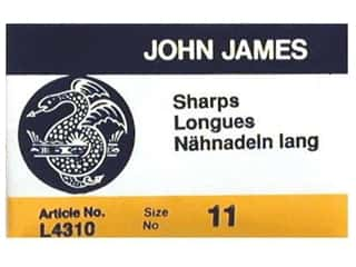 John James Needle Sharp Size 11 25 pc (2 packages)