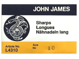 John James Hand Quilting Needles: John James Needle Between 25 pc Size 10 (2 packages)