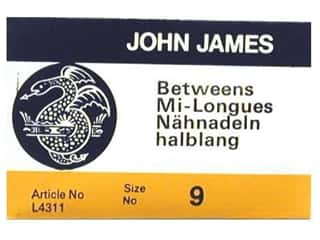 John James Milliner Needles: John James Needle Between 25 pc Size 9 (2 packages)