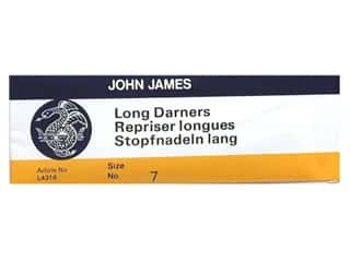 John James: John James Needle Darner Long Size 7 25 pc (2 packages)