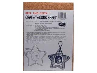 "Cork 16"": Hearts & Crafts Cork Peel & Stick Sheet 8 1/2""x 11 1/2""x 1/16"""
