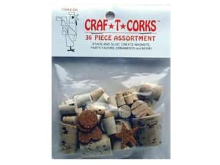 Hearts &amp; Crafts Craf-T-Corks Stopper 36pc Assortd