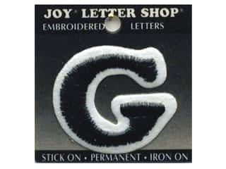 "Iron-On Letter ""G"" Embroidered 1 1/2 in. Black"