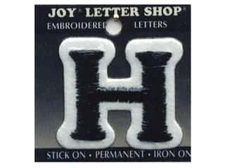"Iron-On Letter ""H"" Embroidered 1 1/2 in. Black"