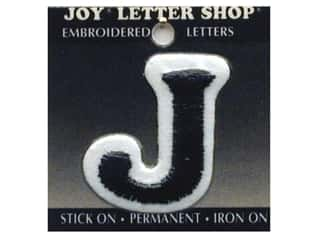 "Iron-On Letter ""J"" Embroidered 1 1/2 in. Black"