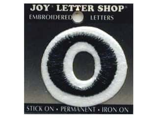 Letter Shop Iron On Black O