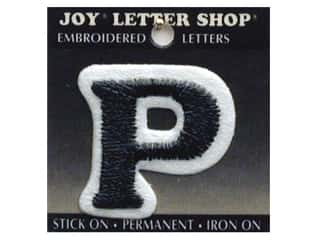 "Iron-On Letter ""P"" Embroidered 1 1/2 in. Black"
