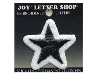 "Iron-On ""Star"" Embroidered 1 1/2 in. Black"