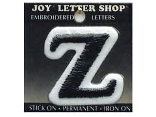 "Appliques Black: Joy Lettershop Iron-On Letter ""Z"" Embroidered 1 1/2 in. Black"