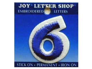 Letter Shop Iron On Blue 6