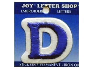 "Iron-On Letter ""D"" Embroidered 1 1/2 in. Blue"