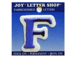 Letter Shop Iron On Blue F