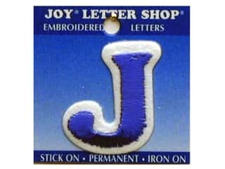 "Iron-On Letter ""J"" Embroidered 1 1/2 in. Blue"