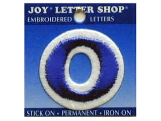 Letter Shop Iron On Blue O