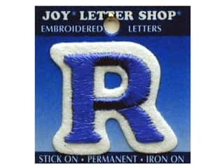 "Sports Joy Letter Shop Iron On Blue: Joy Lettershop Iron-On Letter ""R"" Embroidered 1 1/2 in. Blue"